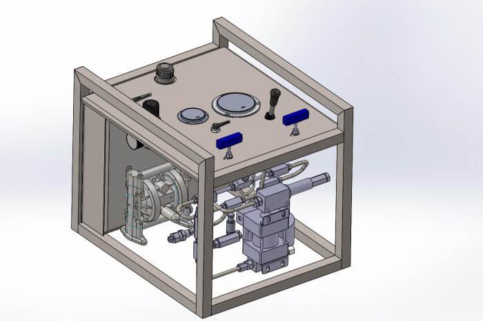 Skid pump 3D